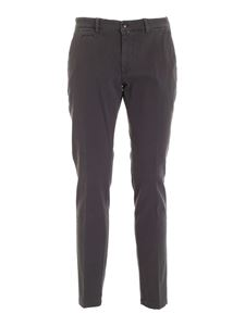 Briglia 1949 - Slash side pockets pants in melange grey