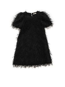 Monnalisa Chic - Fringes dress in black
