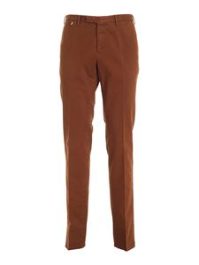 PT Torino - Micro pattern pants in brown