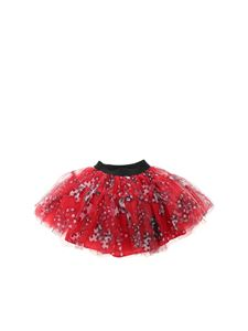 Monnalisa - Tulle skirt in red and black