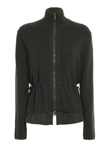 Moncler - Padded front cardigan in green