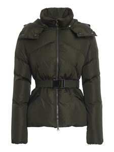 Moncler - Aloes belted puffer jacket in green