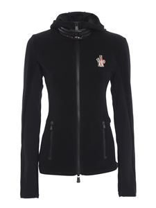 Moncler Grenoble - Giacca in pile nero