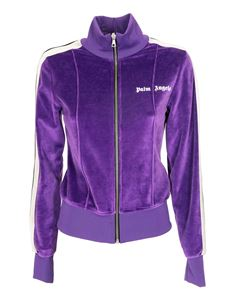 Palm Angels - Fitted track jacket in purple