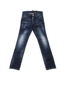 Dsquared2 - Jeans Skater effetto destroyed blu