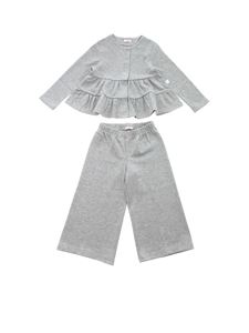 Il Gufo - Lamé tracksuit in grey