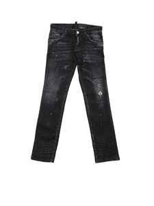 Dsquared2 - Destroyed effect Clement jeans in black