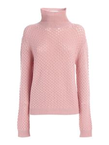 Les Copains - Drilled cashmere turtleneck in pink