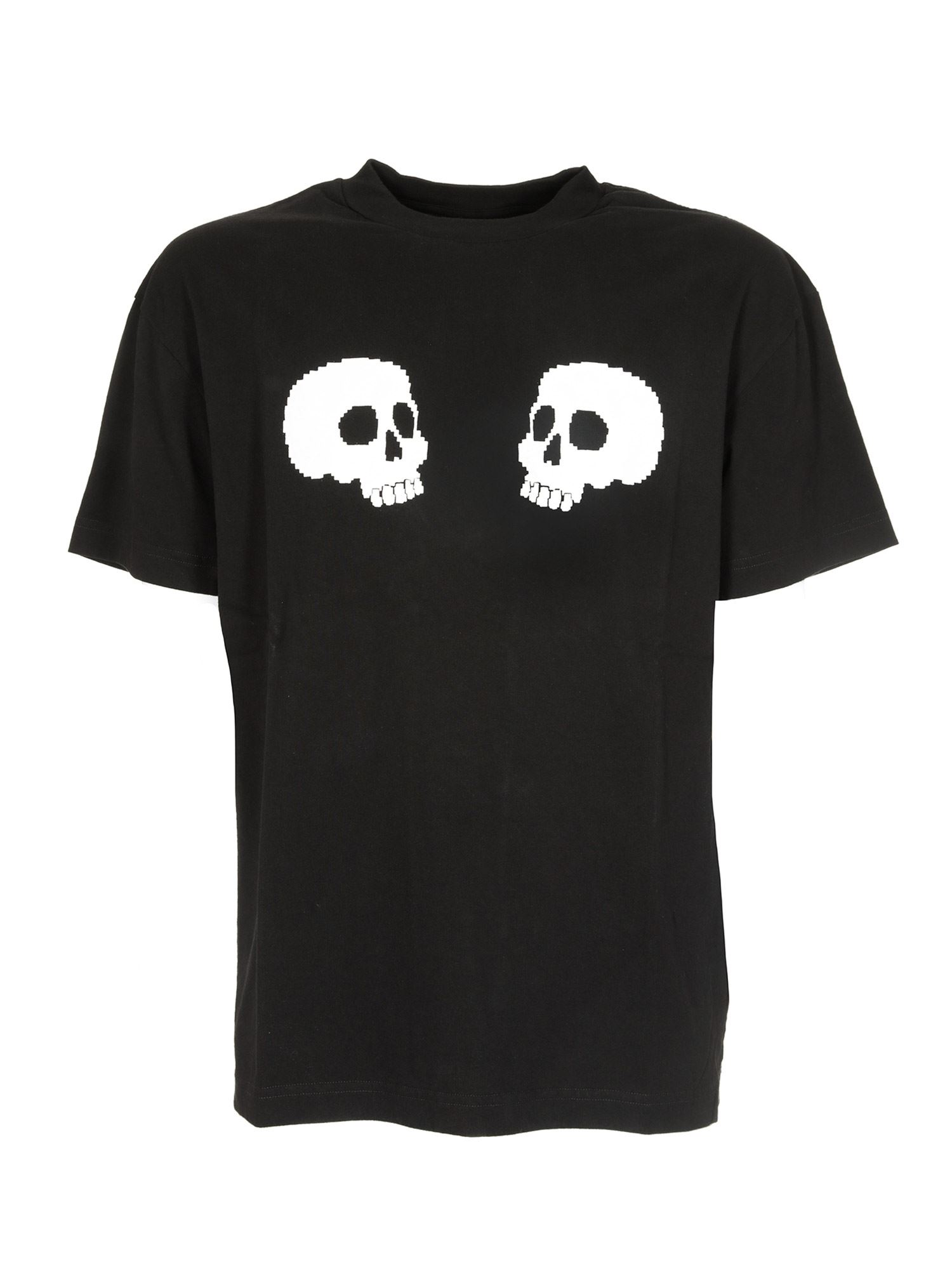 Palm Angels SKULLS T-SHIRT IN BLACK