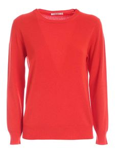 Kangra Cashmere - Crewneck pullover in red