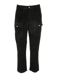 Palm Angels - Corduroy pockets pants in black
