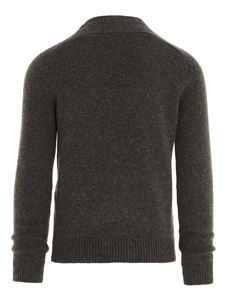Saint Laurent - Pullover manica saddle grigio