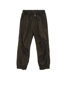 Il Gufo - Drawstring pants in green
