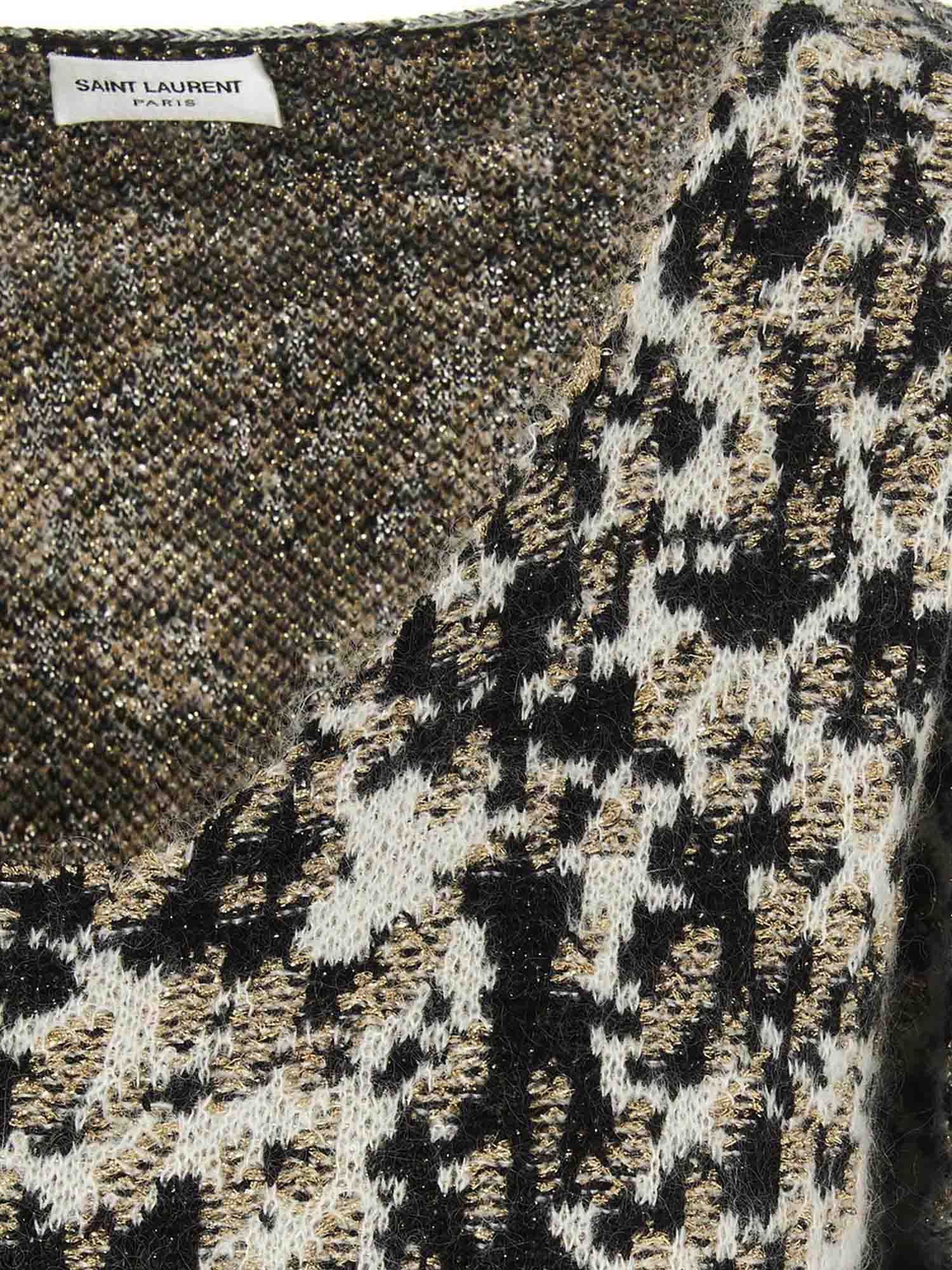 Saint Laurent ANIMALIER INTARSIA SWEATER