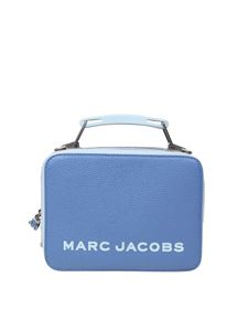 Marc Jacobs  -  Tricolor textured box in blue calfskin