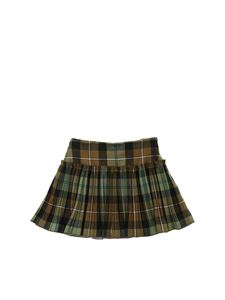 Il Gufo - Check printed skirt in shades of green