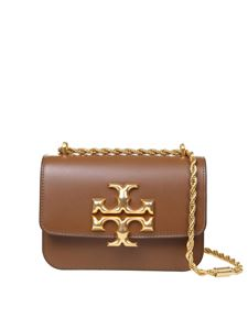 Tory Burch - Eleanor shoulder bag in brown calfskin