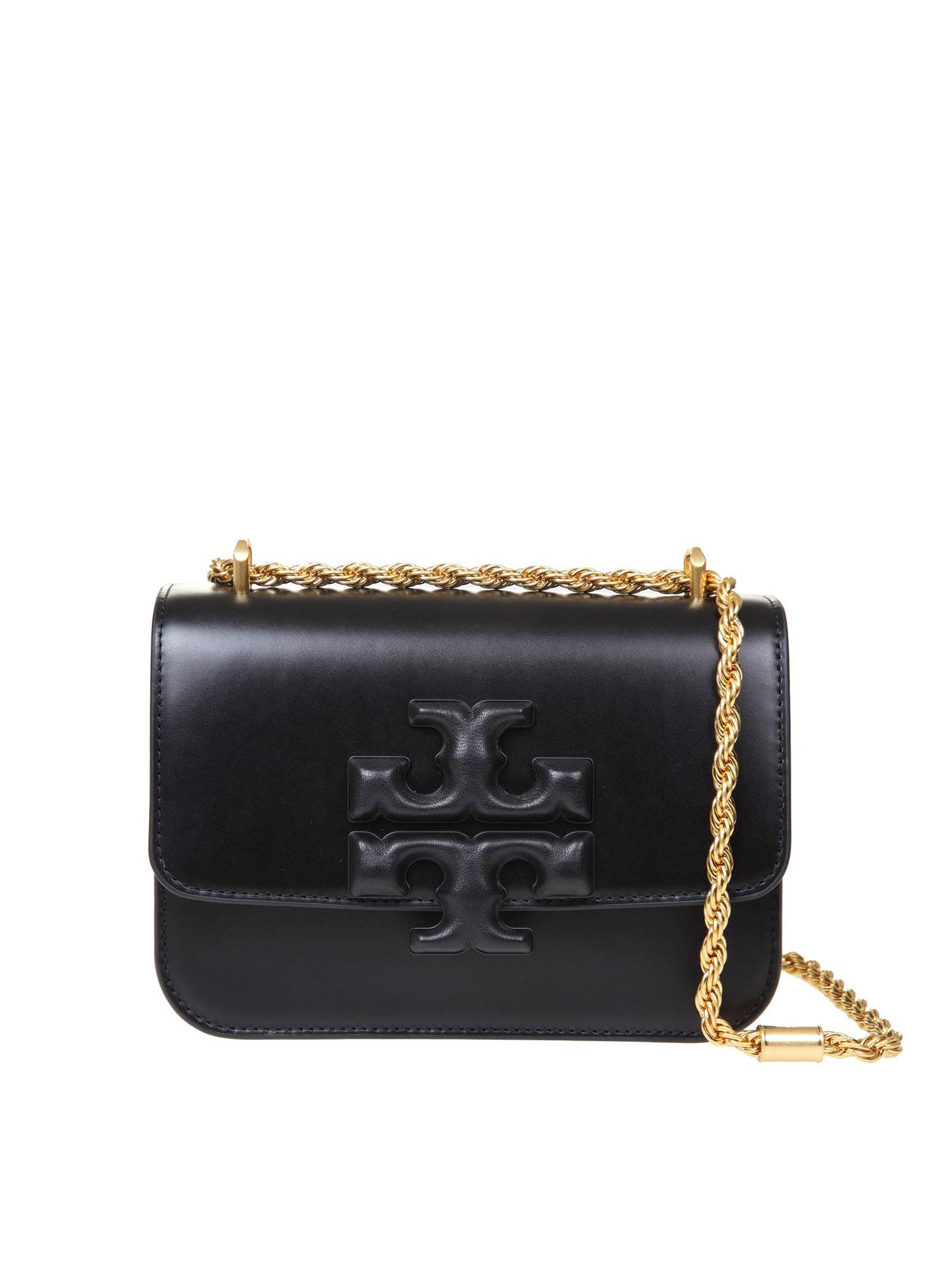 Tory Burch ELEANOR SHOULDER BAG IN BLACK CALFSKIN
