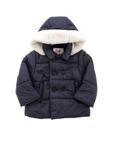 Il Gufo - Hooded puffer jacket in blue