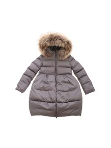 Il Gufo - Hooded down jacket in grey
