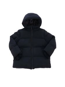 Il Gufo - Hooded down jacket in blue