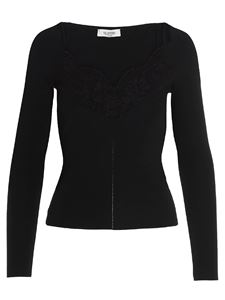 Valentino - Lace pullover in black