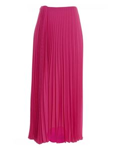 Valentino - Silk pleated skirt in fuchsia