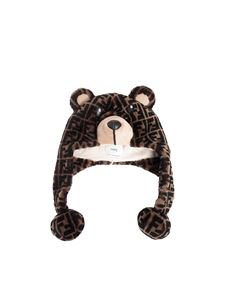 Fendi Jr - Teddy Bear hat in brown