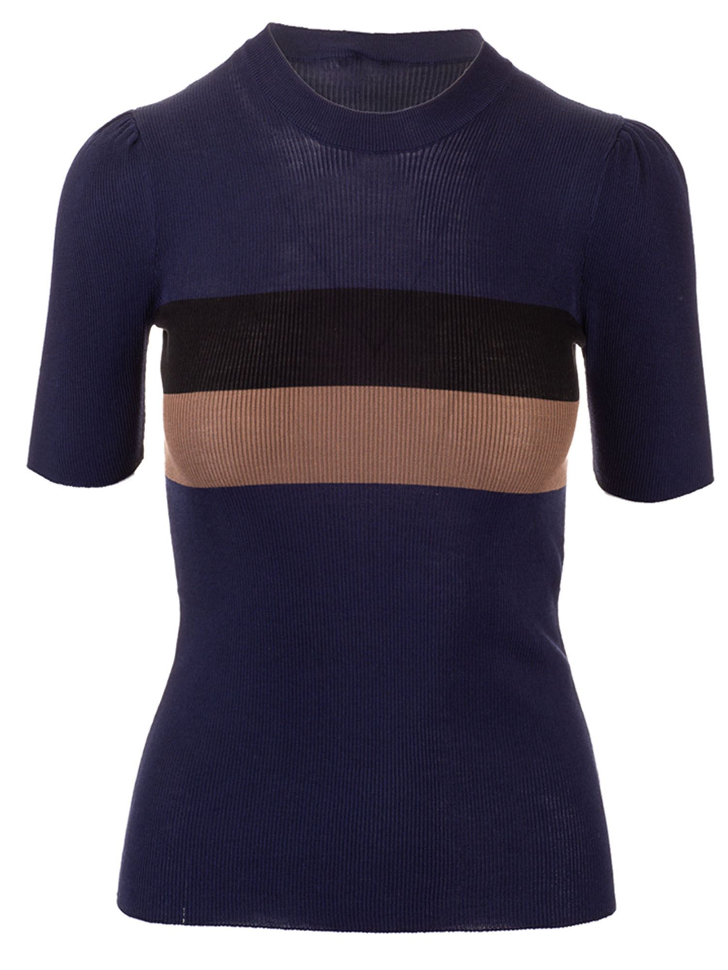 Fendi STRIPED TOP IN BLUE
