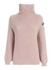 Les Copains - Logo patch high neck pullover in biege
