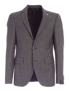 Brando - Prince of Wales check suit in grey