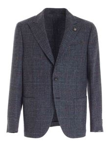 Lardini - Prince of Wales check jacket in blue