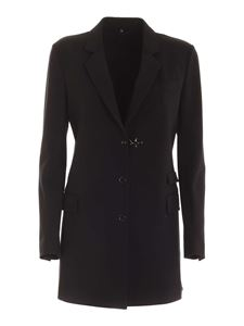 Fay - Iconic hook long jacket in black