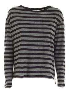 Majestic Filatures - Long sleeves T-shirt in grey and black