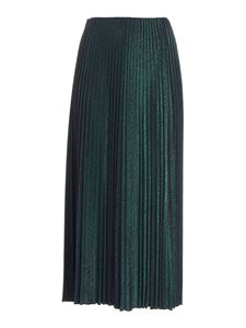 M Missoni - Pleated skirt in green