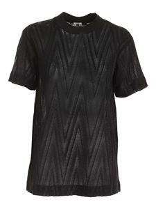 M Missoni - Lamé pattern T-shirt in black