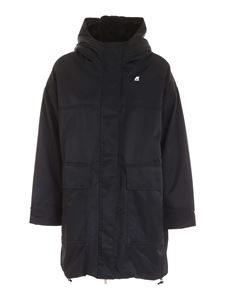 K-way - Jade Nylon Fur parka in black