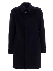Herno - Single-breasted coat in blue
