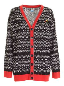 M Missoni - Logo patch cardigan in black and white