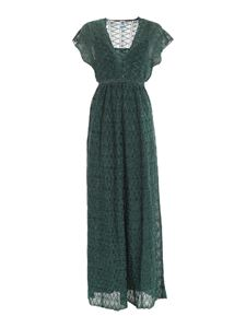 M Missoni - Lamé pattern dress in green