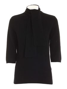 be Blumarine - Bow pullover in black