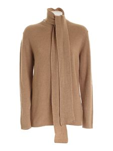 be Blumarine - Bow pullover in camel color