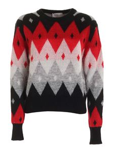 be Blumarine - Grey black and red pullover