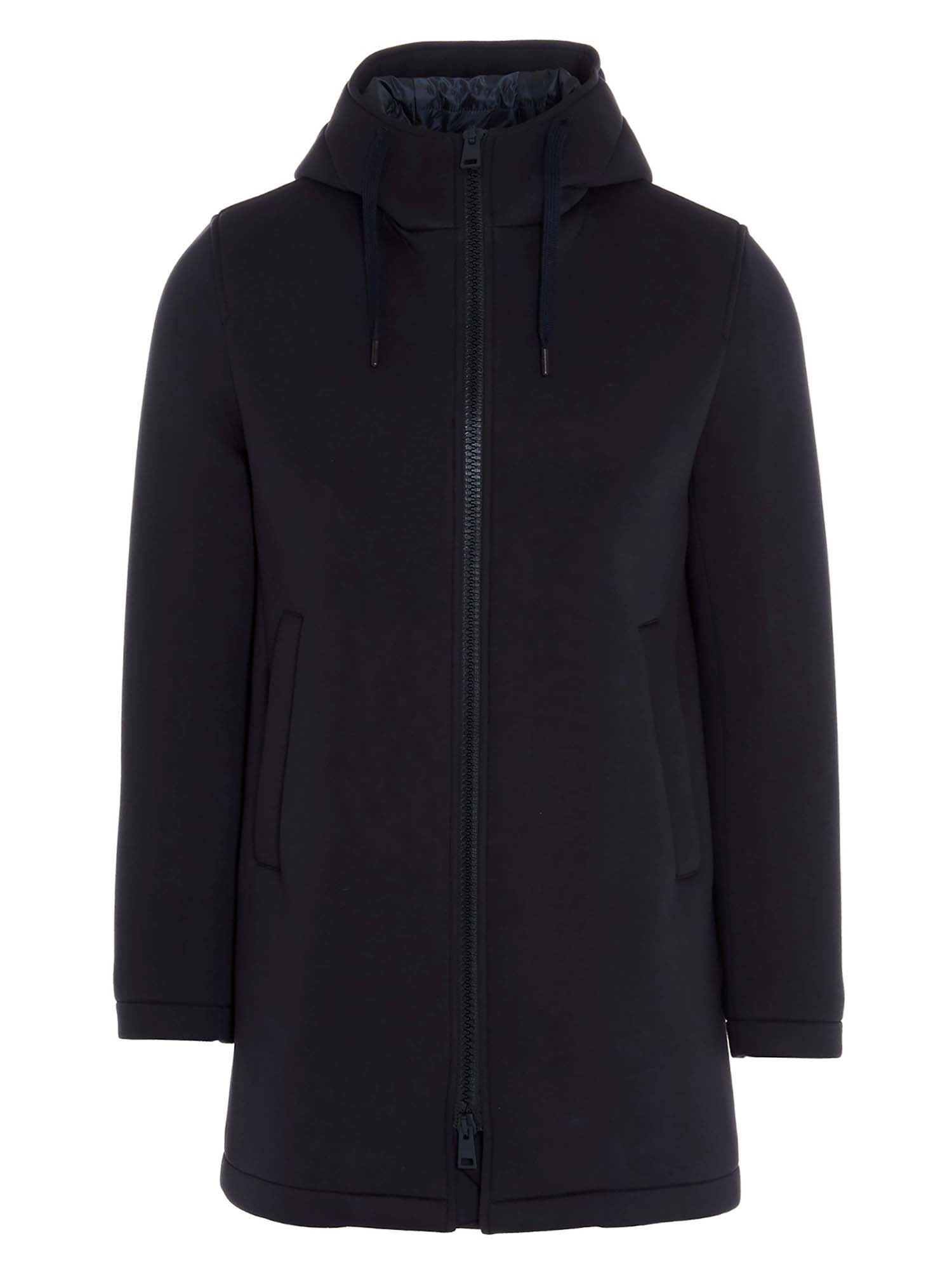 Herno HOODED COAT IN BLUE