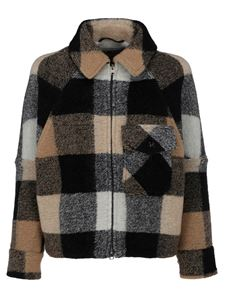 Woolrich - Wool checked jacket in multicolor