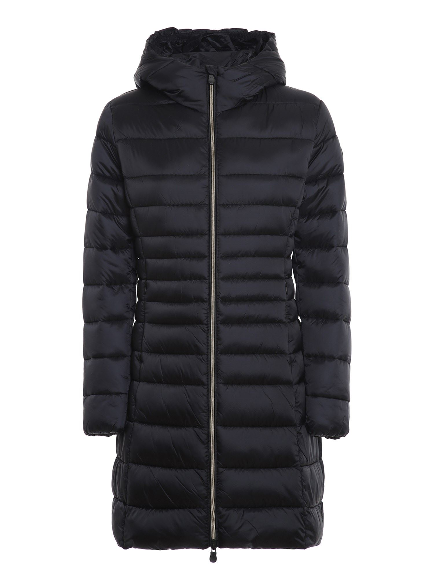 Save The Duck ULTRA LIGHT BREATHABLE HOODED PADDED COAT IN BLACK