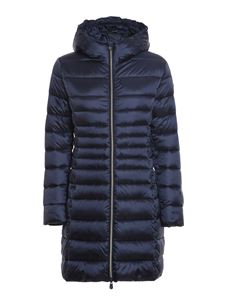 Save the duck - Ultra light breathable hooded padded coat in blue