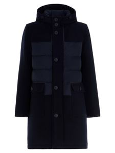 Herno - Wool parka in blue