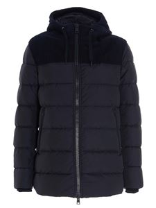 Herno - Quilted down jacket in blue