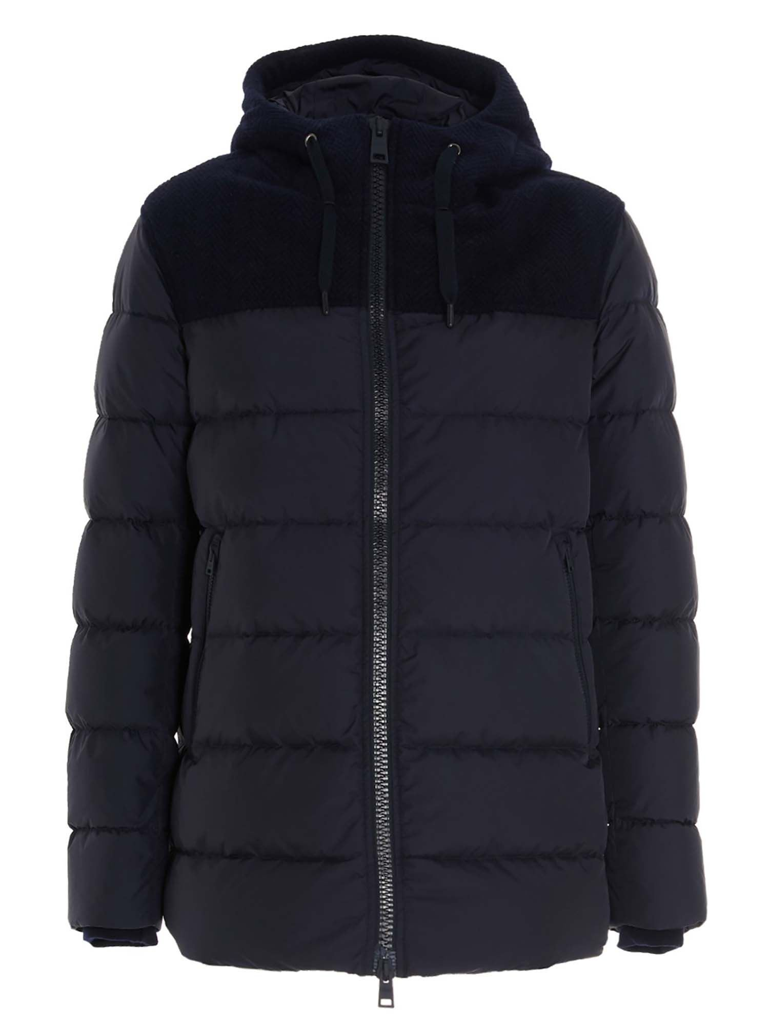 Herno QUILTED DOWN JACKET IN BLUE